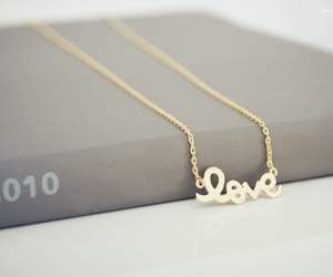 necklace, love, and book image
