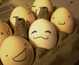 eggs, cute, and face image