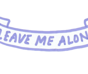 header, leave me alone, and quote image