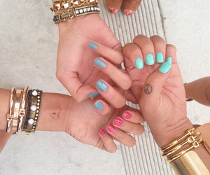 nails, friends, and gold image