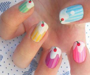 nails, nail art, and cupcake image