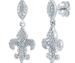 earrings, fashion jewelry, and sterling silver earrings image