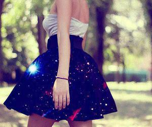 dress, galaxy, and skirt image