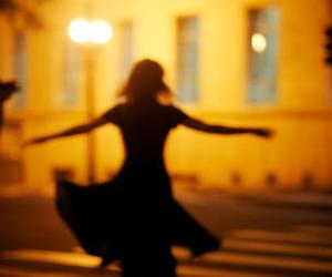 girl, dance, and light image