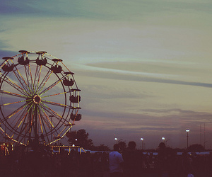 photography, sky, and ferris wheel image