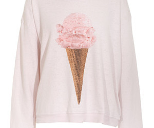 ice cream, pink, and sweater image
