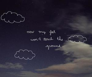sky, quote, and clouds image