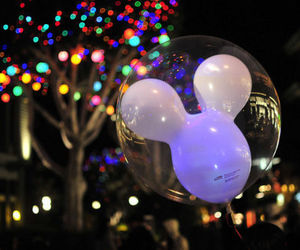 disney, light, and balloons image