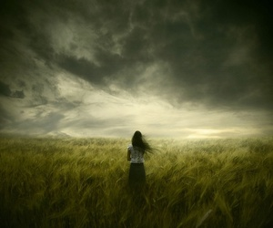 girl and field image