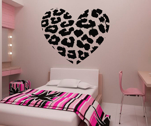 pink, room, and heart image