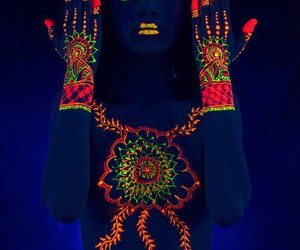 body art, indian, and hypnotic image