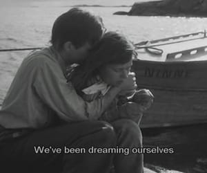 couple, dreaming, and b w image