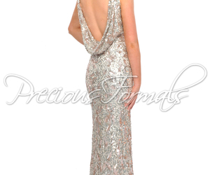 61740edde38b3 Precious Formals L8916 - Ivory Sequin Illusion Evening Gown Dress Prom  Dresses Online