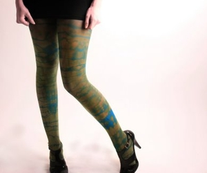 hand dyed, legs, and legwear image