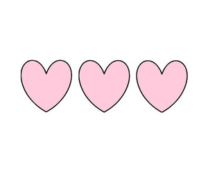 pink, heart, and love image