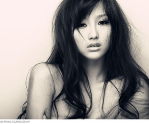 asian, brunette, and long hair image