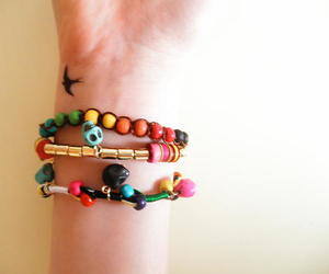 bird, bracelet, and colorful image
