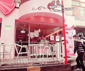 cafe, pink, and cute image