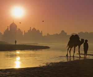 beautiful, india, and sunset image