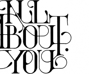 black and white, type, and typography image