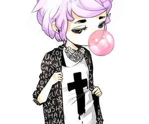 pastel goth, boy, and pastel image