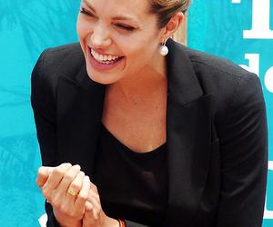 Angelina Jolie, pretty, and smile image