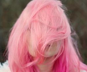 hair, pink, and girl image