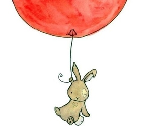 balloons, bunny, and rabbit image