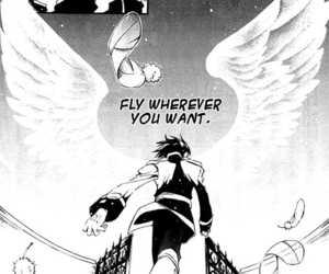 back, manga, and wings image