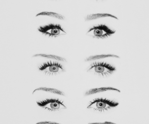 eyes, miley cyrus, and makeup image
