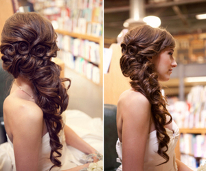 beautiful, hairstyle, and brown image