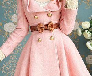 pink, coat, and bow image