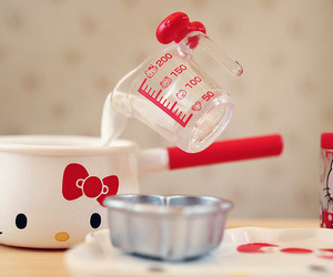 hello kitty, cooking, and kitchen image