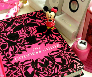 pink, book, and minnie image