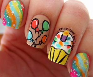 birthday and nails. cute image