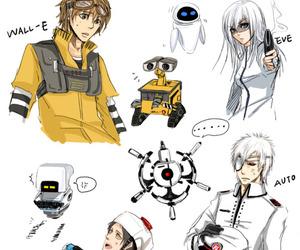 wall-e, anime, and disney image