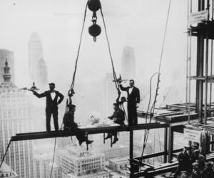 black and white, vintage, and construction image