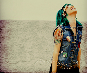 girl, punk, and tattoo image