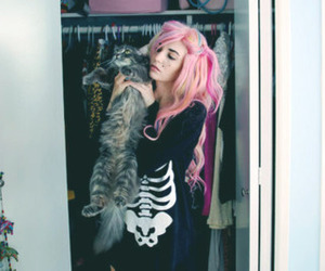 audrey kitching, cat, and hair image