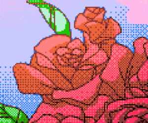 art, rose, and pixel image