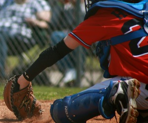 Action, baseball, and dust image