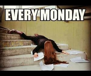 monday, school, and funny image