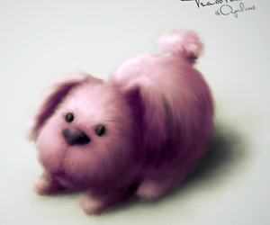 dog, pink, and sweet image
