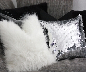 pillow, black, and white image