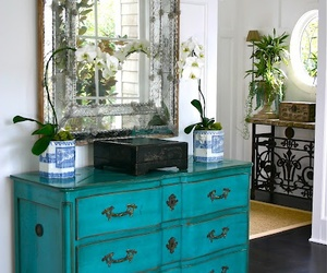 turquoise painted dresser image
