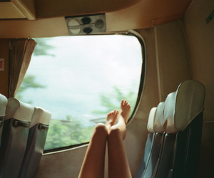 legs, travel, and train image