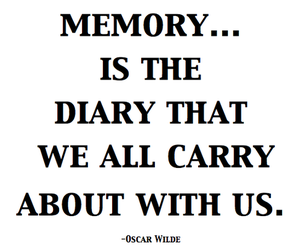 diary, memory, and oscar wilde image