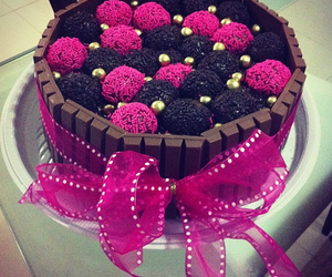 cake, chocolate, and pink image