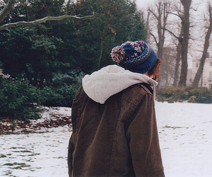 boy, snow, and hipster image