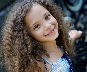 curly hair and biracial image